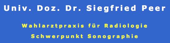 Univ. Doz. Dr. Siegfried Peer